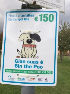 New dog fouling signs in Riverwood estate