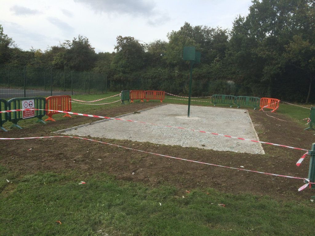 New Basketball court for Sycamore Avenue