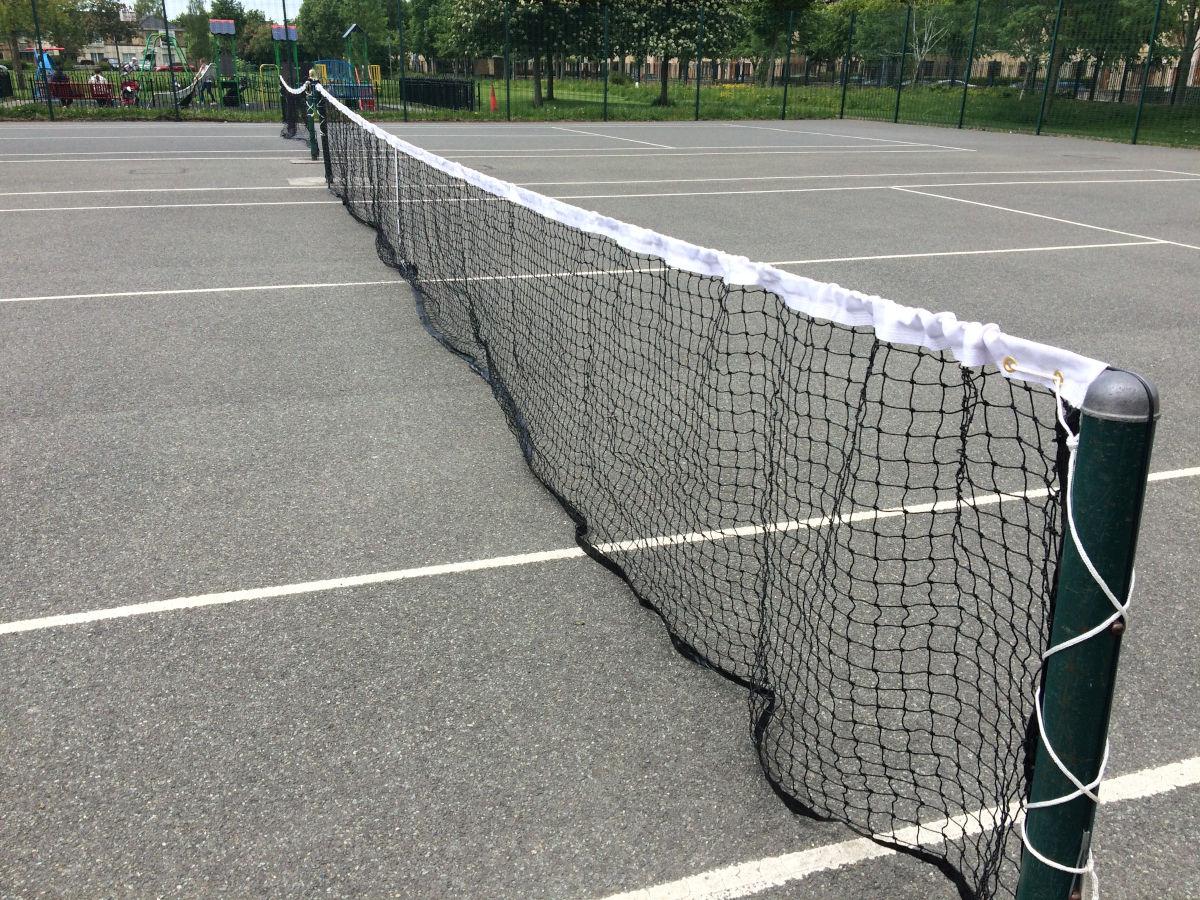 Photo of new tennis court nets